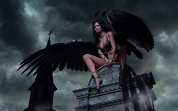 Картинка 3д графика angel ангел