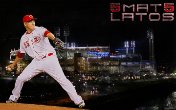 Картинка mat latos спорт бейсбол игрок поле