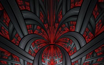 Картинка 3д+графика фракталы+ fractal цвета фон узор