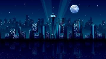 обоя векторная графика, город , city, дома, город