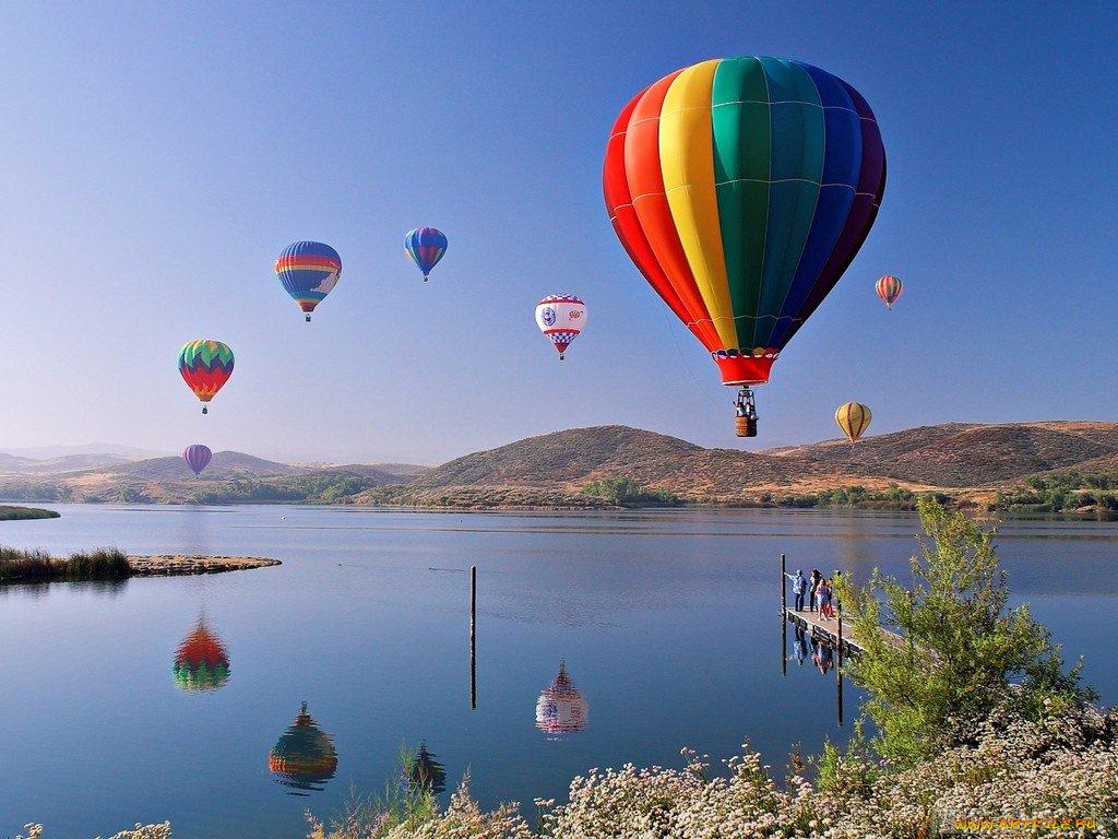 Открытка большие воздушные шары