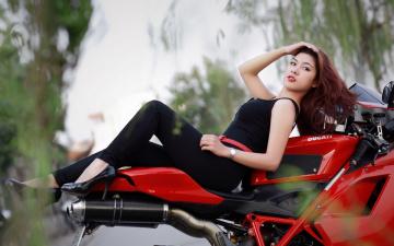 Картинка мотоциклы мото девушкой девушка мотоцикл