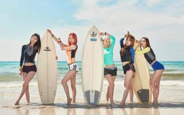 обоя спорт, серфинг, взгляд, девушки, море, фон