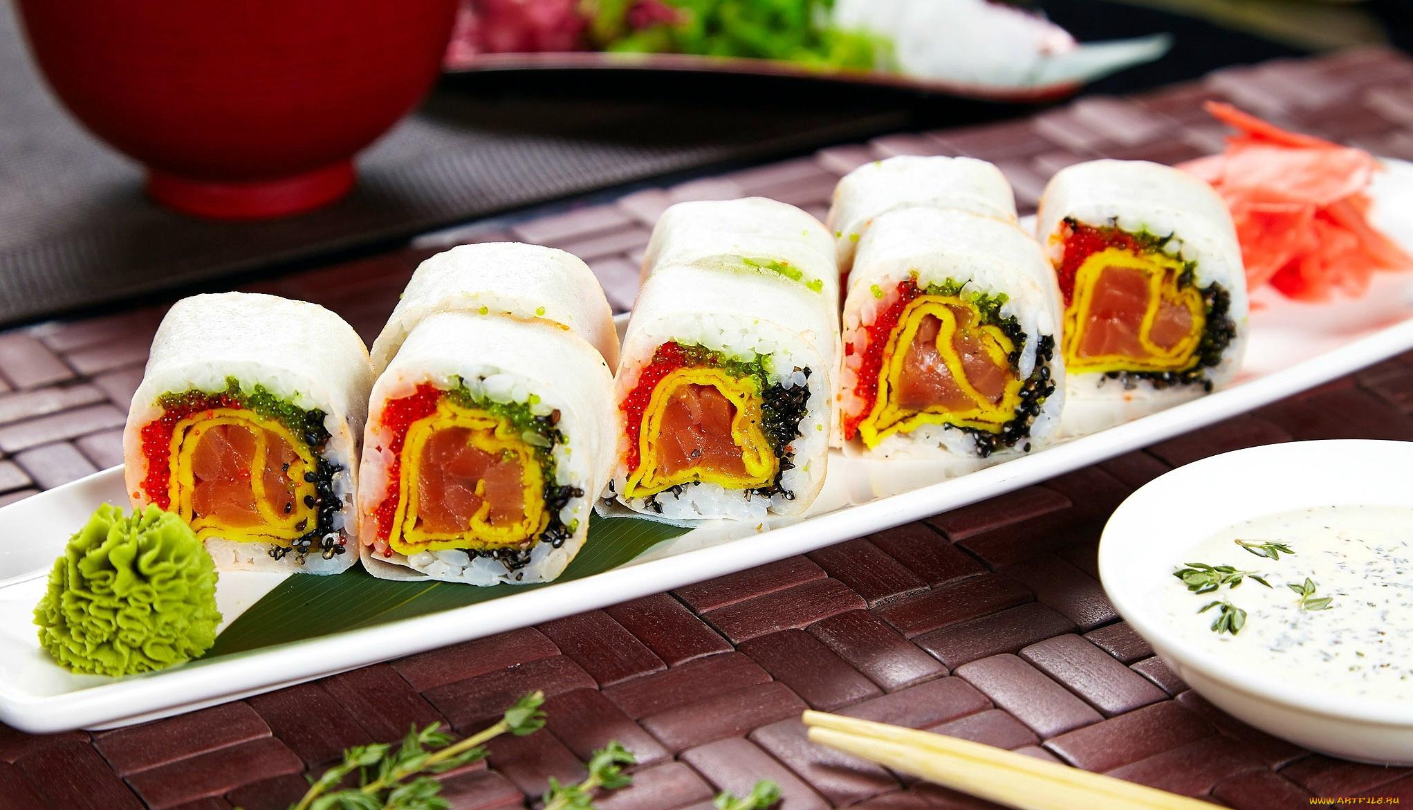 еда роллы васаби имбирь food rolls wasabi ginger бесплатно