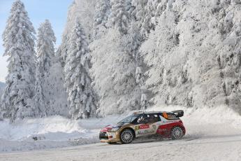 Картинка спорт авторалли rally ds3 citroen wrc снег зима лес 10 ралли