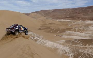 Картинка спорт авторалли пустыня песок гонка