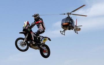 Картинка спорт мотокросс пустыня песок гонка