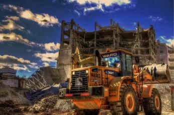 Картинка техника фронтальные+погрузчики трактор колесный тяжелый