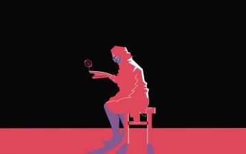 Картинка рисованные минимализм бабушка стул