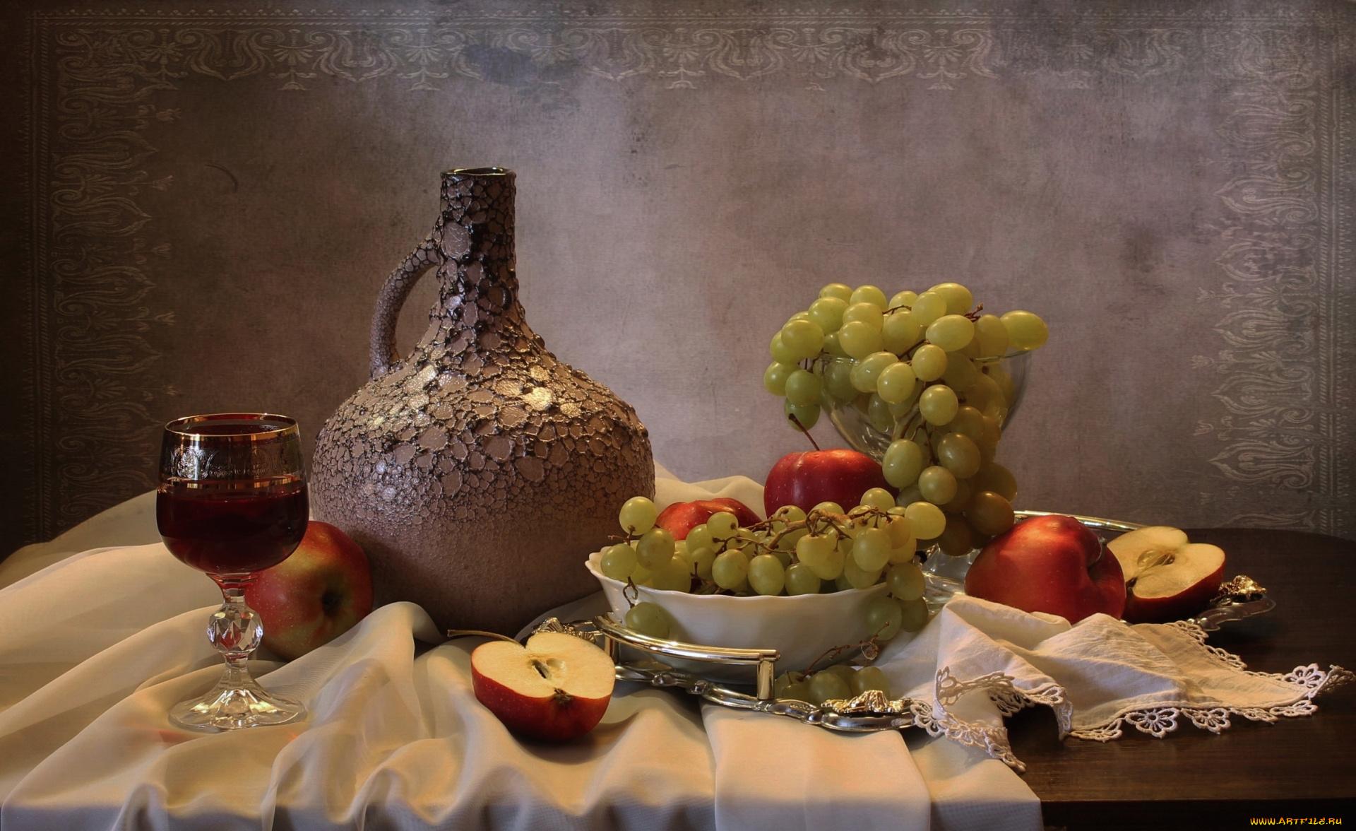 Лет, картинки натюрморты с фруктами и вином