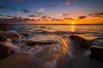 Картинка природа восходы закаты горизонт океан заря