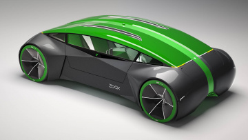 Картинка zoox+reveal+autonomous+bi-directional+electric+vehicle+concept автомобили 3д electric vehicle concept autonomous bi-directional zoox reveal