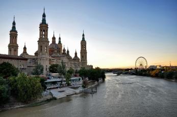 обоя города, лондон , великобритания, костел, река