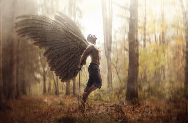 картинка ангел мужчина