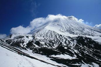 обоя природа, горы, восхождение, на, вулкан, авачинская, сопка, камчатка