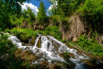 обоя природа, водопады, лес, водопад, река