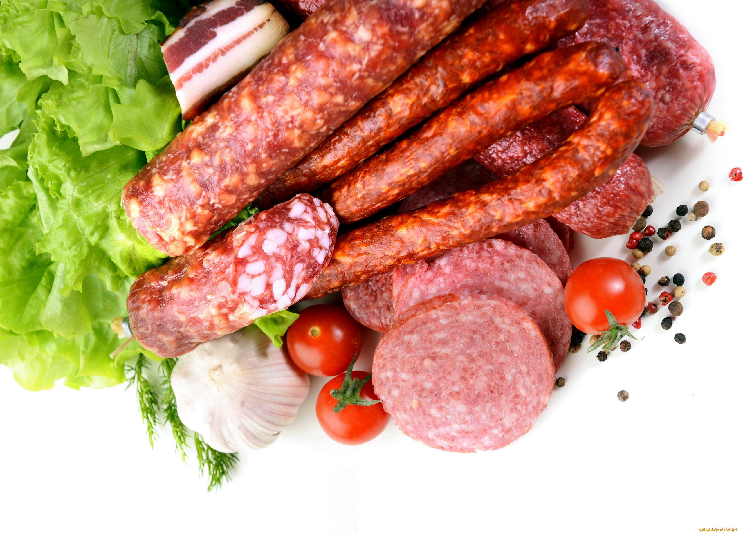 еда колбаса сосиски мясо салат  № 2121913 загрузить