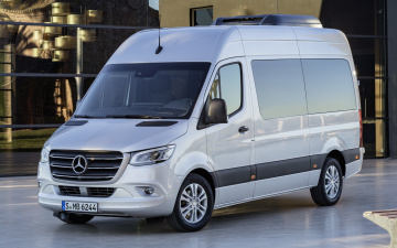 обоя mercedes-benz sprinter , 2018, автомобили, mercedes-benz, sprinter, passenger, bus, buses, мерседес, минивэн