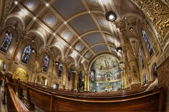 Картинка интерьер убранство роспись храма нью-йорк церковь святого франциска