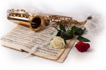 обоя музыка, -музыкальные инструменты, саксофон