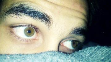 обоя разное, глаза, зеленые