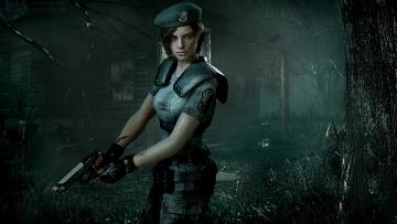 обоя видео игры, resident evil,  revelations, пистолет, униформа, девушка, фон, взгляд