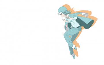обоя аниме, bakemonogatari, фон, взгляд, девушка