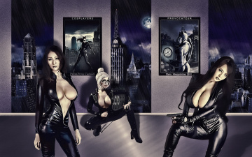 обоя разное, cosplay , косплей, девушки, фон, взгляд, униформа
