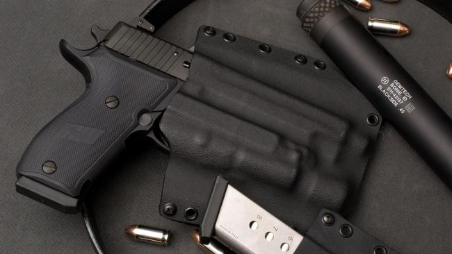 Обои картинки фото оружие, пистолеты, p220, sig, sauer, самозарядный, пистолет