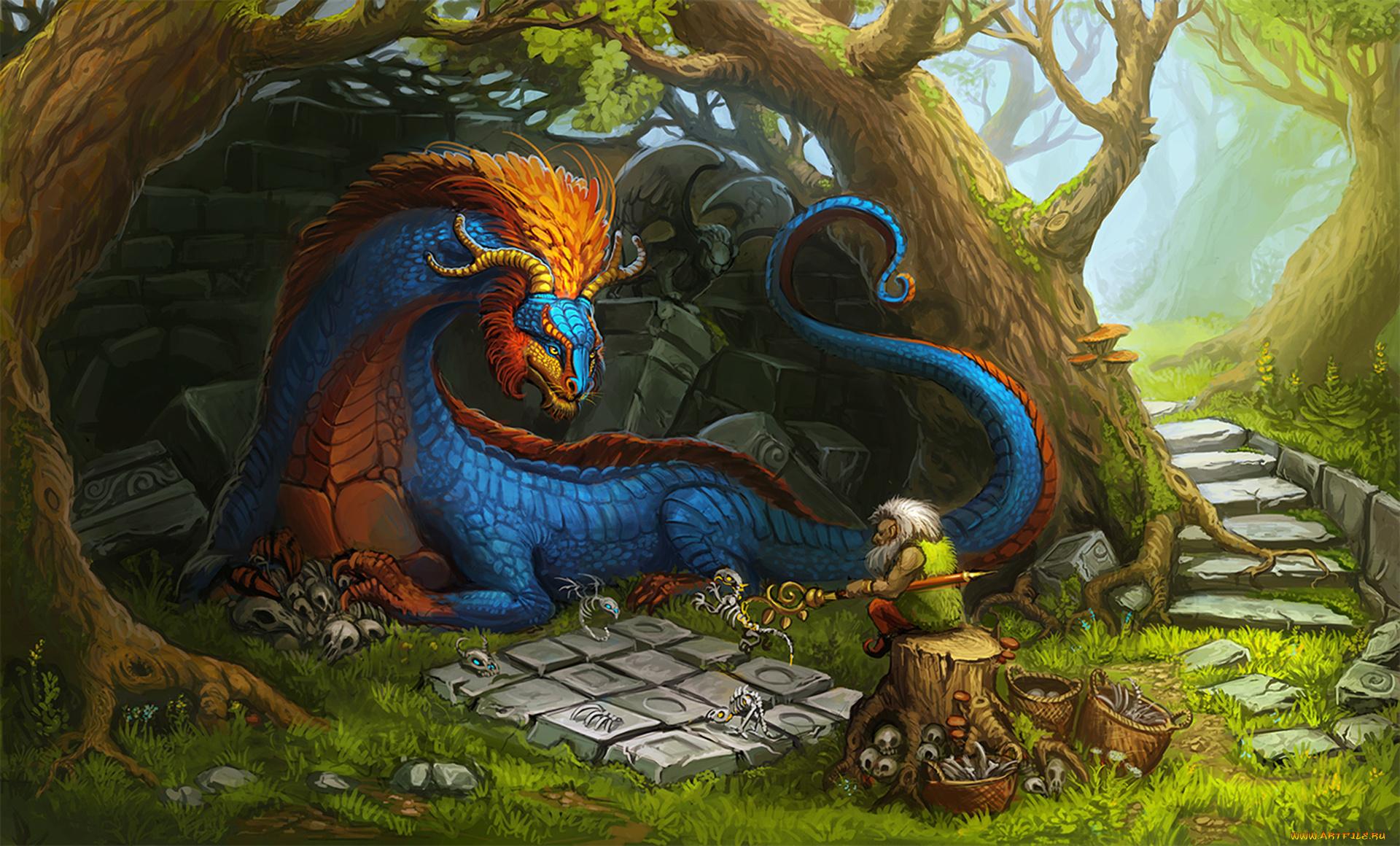 ходе драконы сказочные волшебные картинки одной линзой круглыми