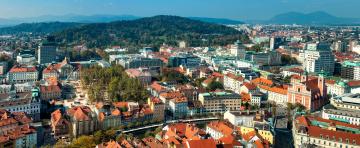 Картинка любляна словения города столицы государств панорама крыши