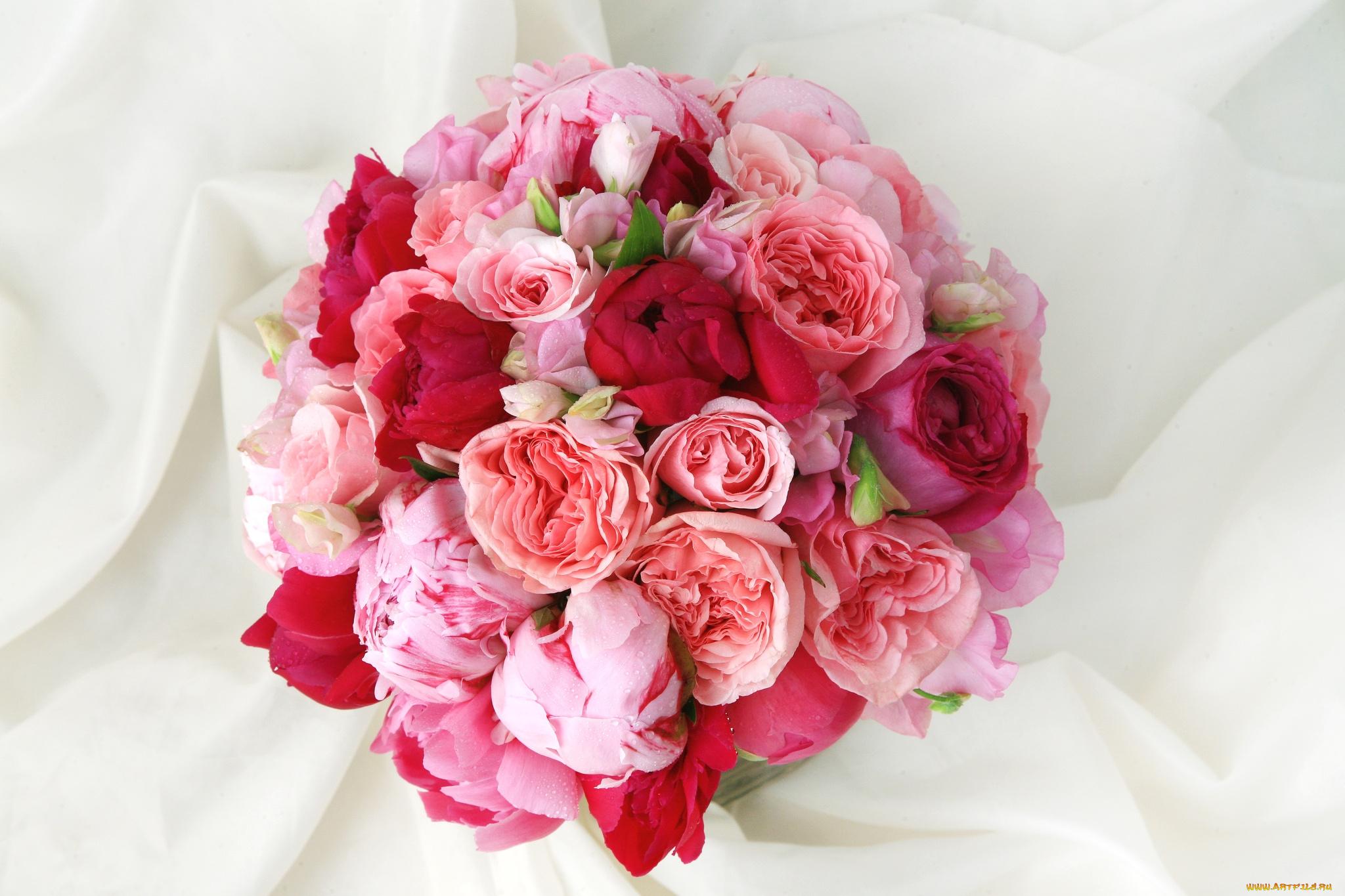 Днем рождения, пионы и розы картинки