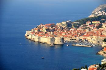 Картинка города дубровник хорватия дома панорама море