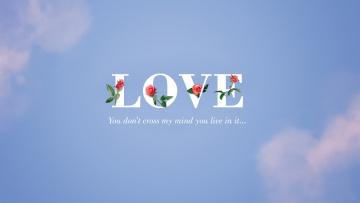 обоя праздничные, день святого валентина,  сердечки,  любовь, облака, цветы