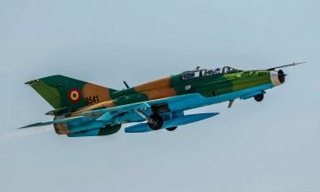 обоя mig-21um, авиация, боевые самолёты, истребитель