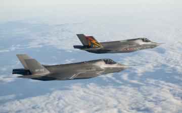 Картинка авиация боевые самолёты истребитель f-35 лайтнинг lightning ii