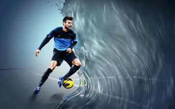Картинка спорт футбол мяч волна игрок