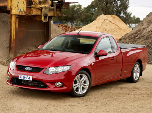 Картинка автомобили ford ute falcon красный fg xr6