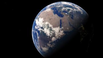 обоя космос, земля, планета, континент, африка