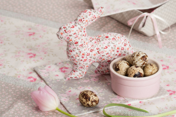 обоя праздничные, пасха, яйцо, кролик, тюльпан