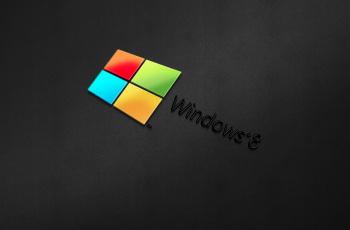 обоя компьютеры, windows 8, фон, логотип