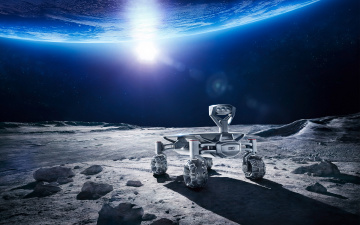 Картинка космос арт audi moon rover