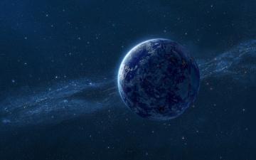 обоя космос, арт, звезды, галактика, вселенная, планета