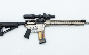 обоя оружие, снайперская винтовка, снег, фон, штурмовая, винтовка, оптика