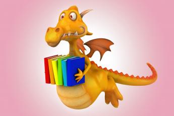 Картинка 3д+графика юмор+ humor дракон dragon funny 3d