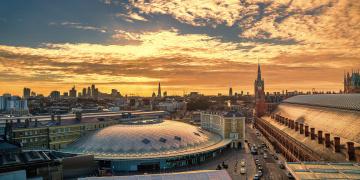 обоя king`s cross st pancras - london, города, лондон , великобритания, простор