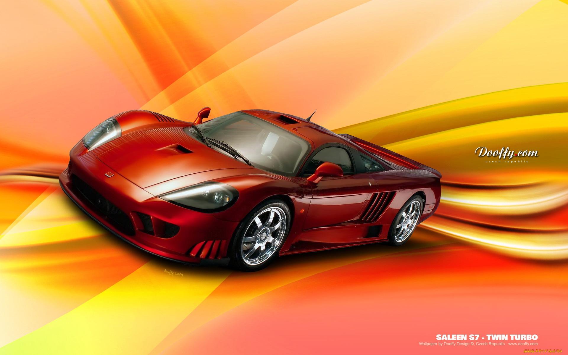красный автомбиль Saleen S7 без смс