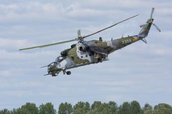 Картинка mil+mi-24v+hind авиация вертолёты вертушка