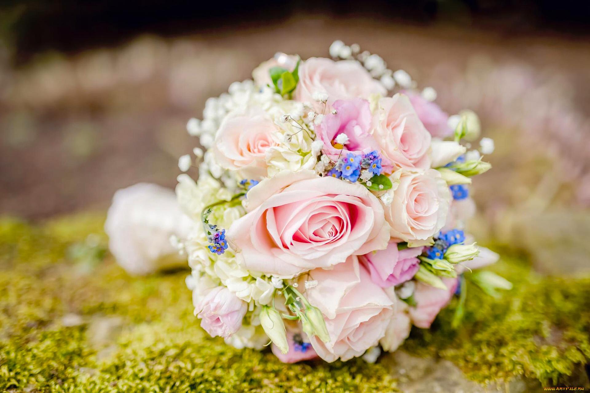 Незабудки свадебный букет, цветов мин воды
