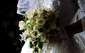 обоя цветы, букеты,  композиции, букет, свадебный
